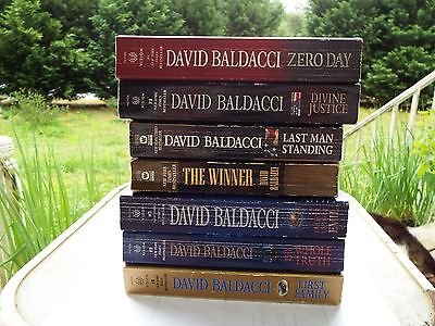 7 DAVID BALDACCI Zero Day DIVINE JUSTICE First Family THE WHOLE TRUTH The Winner