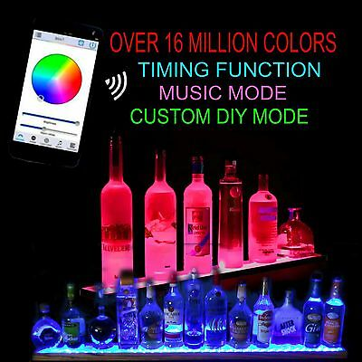 "36"" Led Lighted Liquor Bottle Display - Bluetooth Ctrl Colors Can Move To Music"