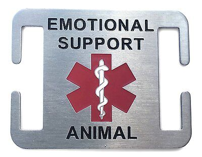 Emotional Support Animal Dog ID Tag for ESA Service Dogs - Attaches to Collar or