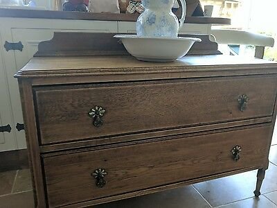 Antique oak sideboard chest of drawers