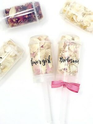 Flower girl/Page Boy gift. Wedding Confetti Popper. Biodegradable Petal Push 🌷