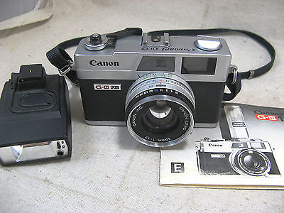 Canon Canonet QL17 G-III QL W/40mm 1:1.7 Lens, Manual, 16C Flash