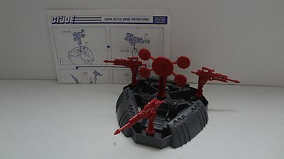 1988 GI Joe Cobra Battle Barge Complete w/Manual! Vintage Hasbro -P