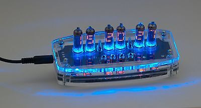Electronic Clock With Digital Nixie Numitron Tubes Iv-9 (Ив-9)