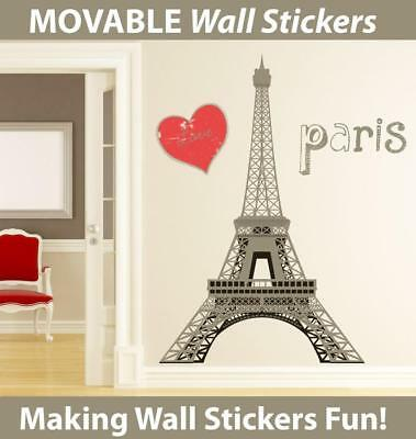 Eiffel Tower Movable Wall Stickers