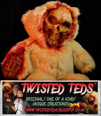 Custom Ooak Undead Teddy Horror Bear Zombie Ted Halloween