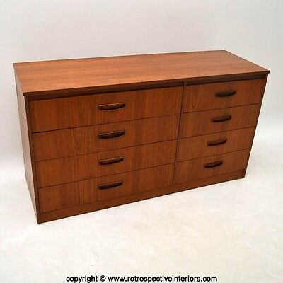 RETRO TEAK SIDEBOARD / CHEST OF DRAWERS VINTAGE 1960's