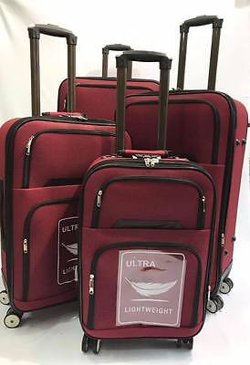 "Suitcase Luggage Sets of 4pcs Expandable Cases 4 Wheels Bags 20"" 23"" 27"" & 31"""