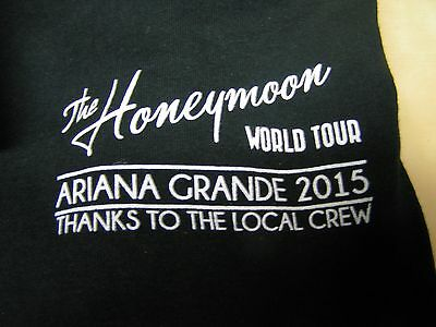 "Ariana Grande ""The Honeymoon World Tour"" 2015 local crew t-shirt, XL, black, new"