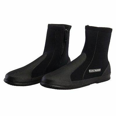 U.S. Divers Comfo High Cut 5MM Snorkeling Diving Boots Neoprene With Travel Bag