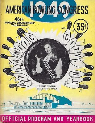 1949 American Bowling Congress Official Program and Yearbook, Atlantic City, NJ
