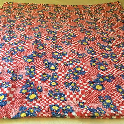 Vintage Terry Cloth Fabric Blanket size Beach Towel Extra Large 46'' x 100''