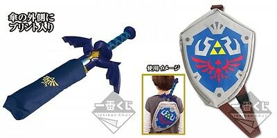The Legend of Zelda Ichiban Kuji Master Sword Umbrella & Hylian Shield Bag Set