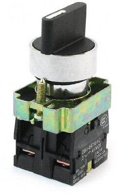 10A 600VAC 3 Selector Position Locking Action 2N/O DPST Rotary Switch