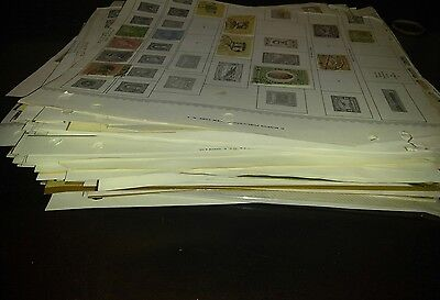 Large Ecuador stamp collection on pages with thousands.unchecked.
