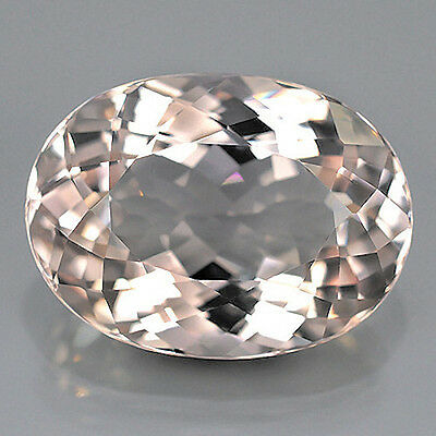 11.09 ct Exzellenter ovaler 17 x 12.5 mm Light Pink Morganit (Pink Smaragd)
