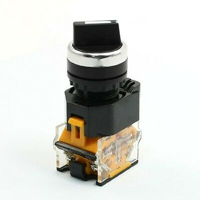 DPST 2 Pin Self Locking 2 Position Selector Pushbutton Switch 380V 10A