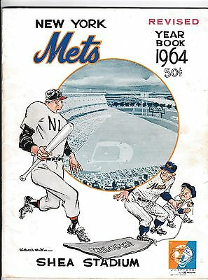 1964 New York Mets Yearbook Revised Orange Edition Casey Stengel Ron Hunt
