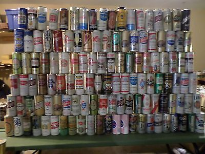 Huge Vintage Beer Can Lot of 123 - 16 oz Some Very Rare Collection  O
