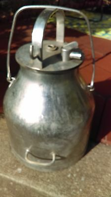 Farm Fresh - De Laval Stainless Milk bucket with handle and lid found dairy barn