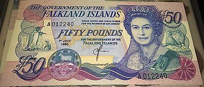 Falkland Islands 50 Fifty Pound Banknote SCARCE UNC GEM