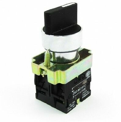 Ui600V Ith10A DPST 4-Terminal 3-Positions Selector Self-Locking Rotary Switch