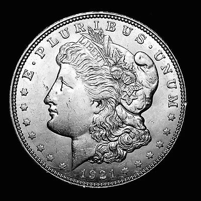 1921 D ~**ABOUT UNCIRCULATED AU**~ Silver Morgan Dollar Rare US Old Coin! #299
