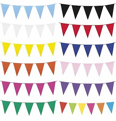 10m Coloured Giant Pennant Bunting Party Banner Decoration Accessory/ Supplies