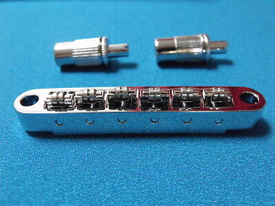 Vintage Style Tune-O-Matic LP SG  Chrome Guitar Roller Bridge 52mm spacing