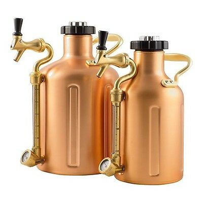 GrowlerWerks Copper uKeg 64 oz & 128 oz Pressurized Growler for Craft Beer