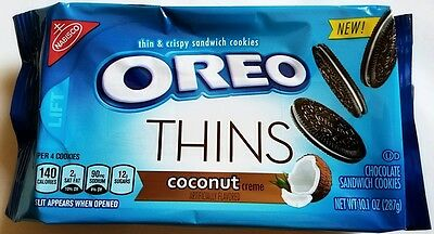 NEW Nabisco Oreo Thins Coconut Creme Flavor Cookies FREE WORLDWIDE SHIPPING
