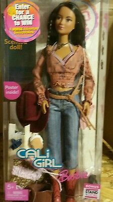 NIB Barbie Doll Western Cowgirl Cali Girl Horse Riding Horseback Scented 2004