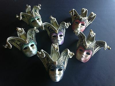 One Vintage Original wall hanging mini Venetian mask nicely decorated