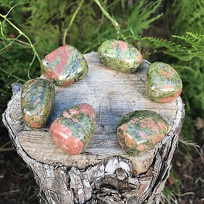 *2* UNAKITE Natural Healing Tumbled Stones  20-25mm