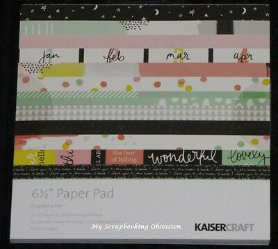 "Kaisercraft 'DAYDREAMER' 6.5"" Paper Pad Dream/Happiness KAISER *DELETED 4 LEFT*"
