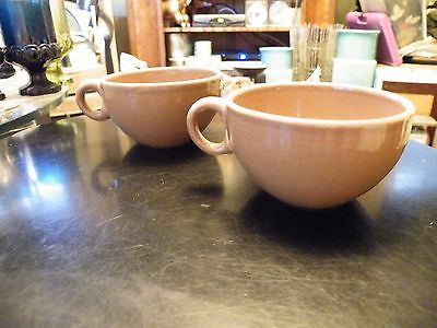 2 Iroquois Casual China by Russel Wright Coffee Tea Cups Nutmeg