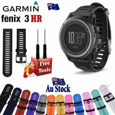 Wristband Adjustable Silicone Wrist Replacement Band Kit for Garmin Fenix 3 3 HR