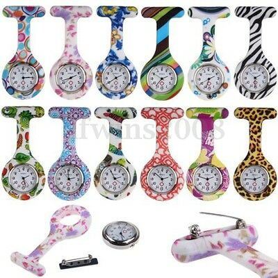 Silicone Montre Infirmière Médecin Poche Broche Pince Épingle Quartz Nurse Watch
