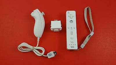 Nintendo White Wii Remote Controller, Motion Plus and Nunchuck Kit [Official]