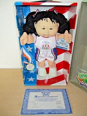 1995 Cabbage Patch Kids Special Edition *olypikids* Doll Asian Basketball Nos