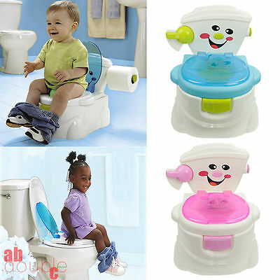 Toddler Potty Training Seat Baby Child Kids Fun Toilet Trainer Chair Blue