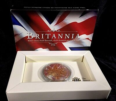 2011 UK BRITANNIA Gilt 1oz SILVER BULLION £2 COIN Great Britain
