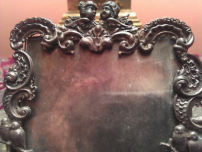 Victorian Miniature Sterling Cupid Frame