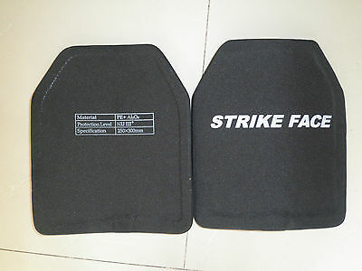 2PCS Body Armor Bullet Proof Creamic compound Plate NIJ III (STAND ALONE)