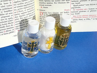 Vatican sacramentals blessed exorcised holy water oil salt for exorcism ritual