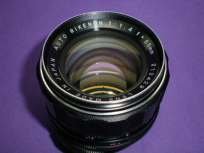 Excellent Vintage M42 1.4/55 Auto Rikenon 1:1.4 f=55mm Made in Japan