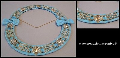 Masonic Craft Grand Officer Chain Collar - Sky blue ribbon