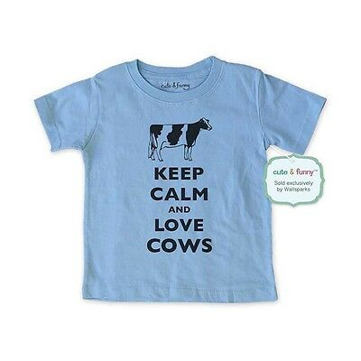 Keep Calm and Love Cows - funny animal Infant Toddler Youth Shirt