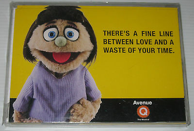 Avenue Q The Musical Set Of 12 Note Cards And Envelopes (2005, Wynn Resort) -Mib