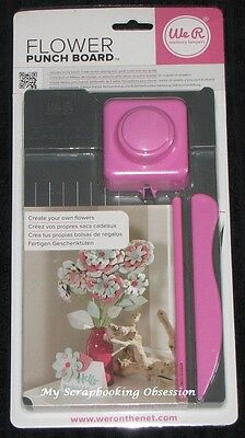 WRMK 'FLOWER PUNCH BOARD' Create your own flowers Card Making/Scrapbooking/Craft